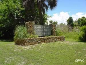 entrance sign fort island trail park crystal river florida