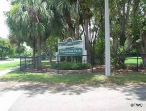 entrance sign to caxambas park