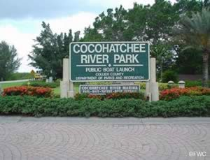 cocohatchee park entrance sign