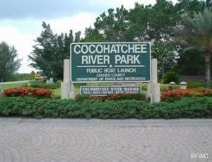 cocohatchee park entrance sign