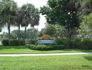 naples landing park and boat ramp sign