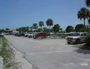 boat trailer parking at port of the islands marina naples florida