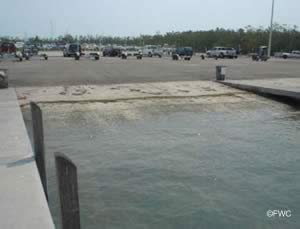 crandon park boat ramp near virginia key florida
