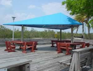 picnic area at homestead bayfront park and boat ramp