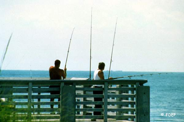 saltwater fishing docks at bill baggs state park