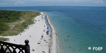 beach view from top of lighthouse at bill baggs