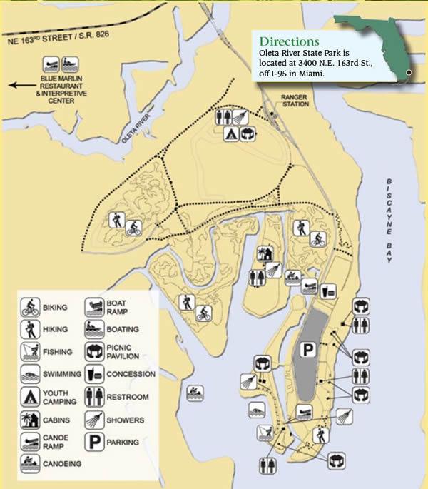 Crandon Park Beach Map