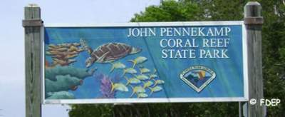 entrance to john pennekamp key largo fl