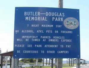 entrance sign at butler douglas memorial ramp dixie county florida