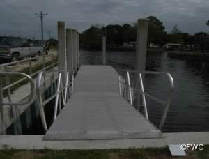 ramp to docks at demory creek ramp suwanne florida