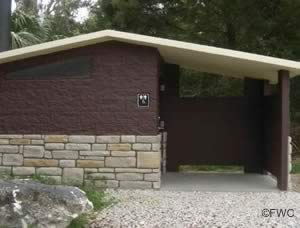 restrooms at shired island boat ramp