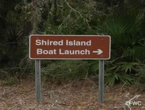 entrance to shired island boat ramp horseshoe beach florida