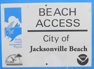 signs desiganting jacksonville beach access points