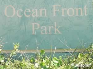 ocean front park sign jacksonville beach fl
