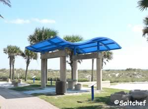 small covered pavilions at ocean front park jacksonville beach