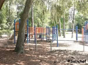 shaded playground at arlington lions club park jacksonville fl
