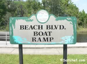 sign at beach boulevard boat ramp jacksonville fl