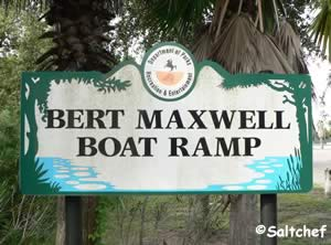 entrance sign to bert maxwell boat ramp jacksonville fl