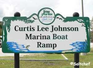 entrance sign curtis lee johnson boat ramp