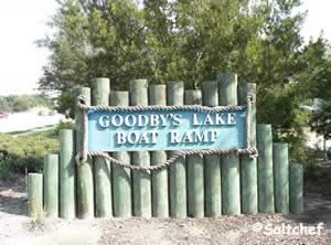 entrance to goodby lake boat ramp