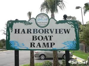 entrance sign harborview boat ramp jacksonville florida