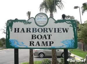 entrance sign harborview boat ramp jacksonville florida