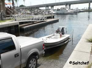 boat launching ramp ICW atlantic beach florida