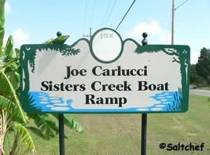sign at joe carlucci park and boat ramp duval county florida
