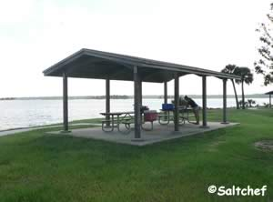 picnic pavilions at joe carlucci park and boat ramp on historic sisters creek jax