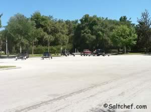 boat trailer parking at knight boat ramp green cove springs fl