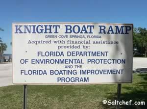sign at knights boat ramp clay county florida