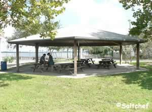 pavilion at lonnie wurn boat ramp
