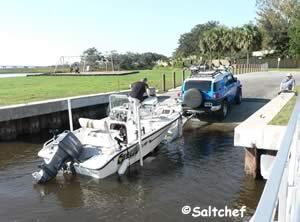 loading boat at oak harbor ramp jacksonville florida