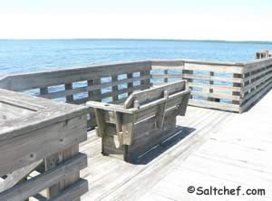 pier benches shands bridge green cove springs florida