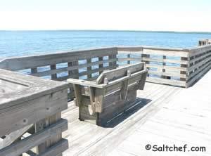 pier benches shands bridge green cove springs florida