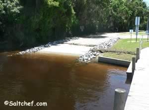 boat ramp at old shands bridge green cove springs florida 32043