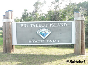 sign at big talbot island state park