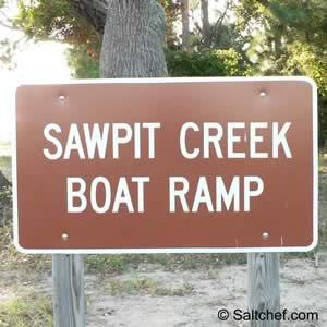 sawpit boat ramp big talbot island
