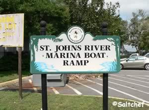 entrance sign to st johns marina boat ramp jacksonville florida