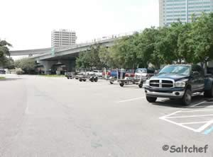 limited trailer parking at st johns marina ramp jax fl