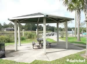 picnic shelter at stokes boat ramp