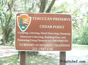 sign at timucuan preserve boat ramp near jacksonville fl