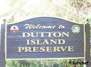 sign at dutton island
