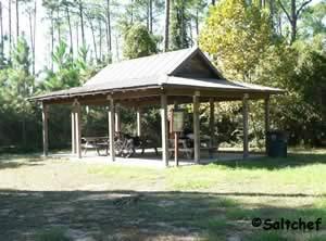 picnic pavilion at dutton island preserve