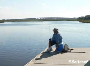 fishing at southern side of dutton island