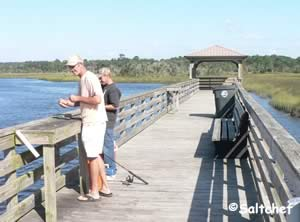 fishing at dutton island northern pier