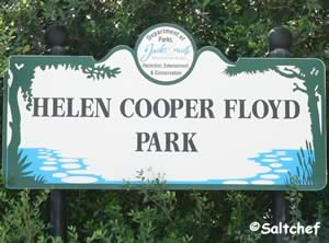 entrance sign at helen cooper floyd park