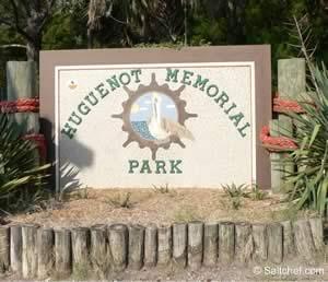 huguenot park sign