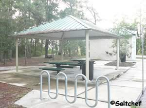 pavilion picnic tables and grill at palmetto leaves south jacksonville florida