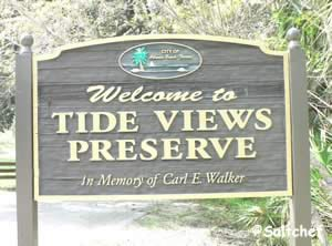 entrance sign at tide views preserve atlantic beach florida
